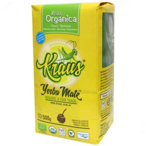 Packet of Yerba Mate Kraus Organic 500g